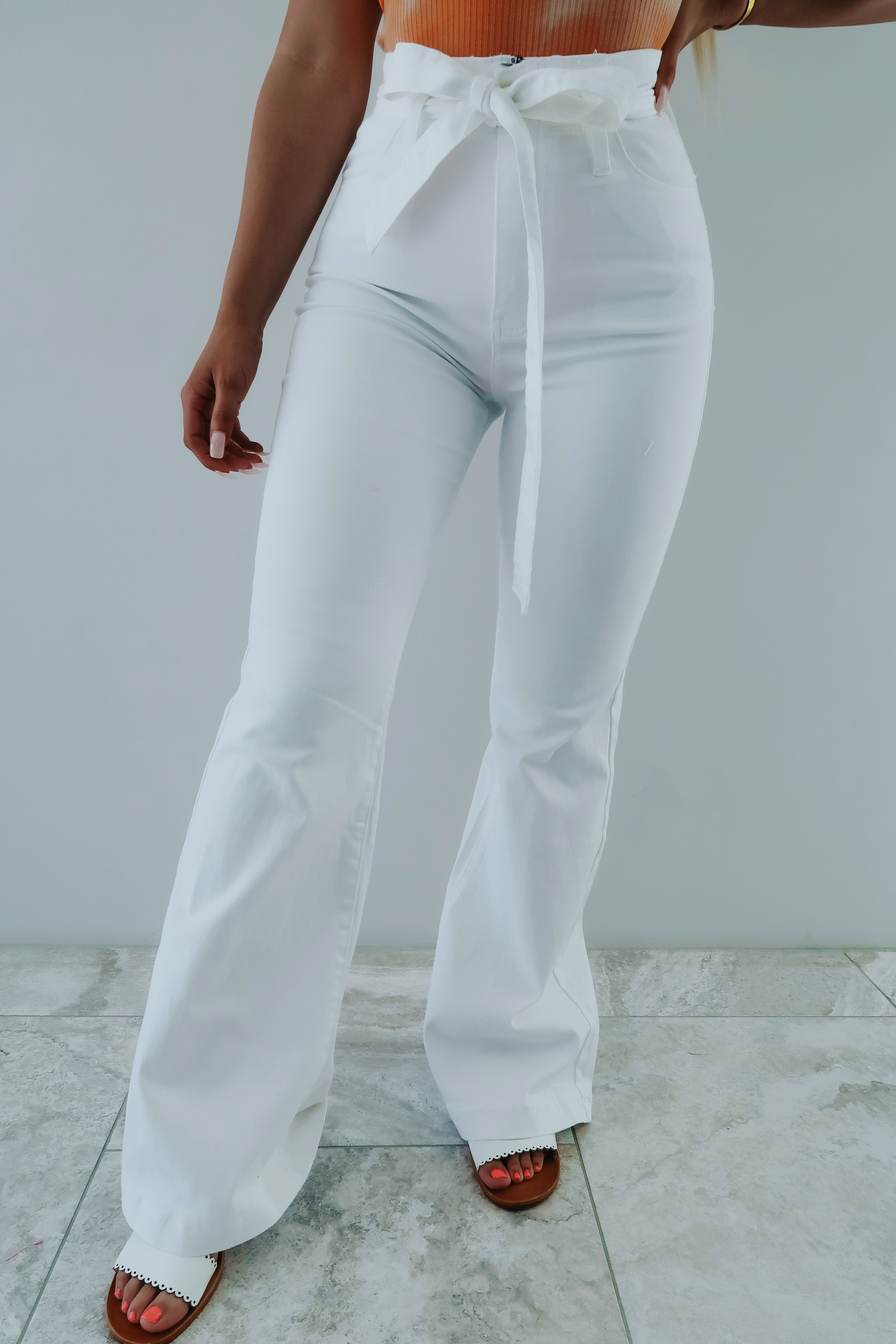 Do Good Flare Jeans: White