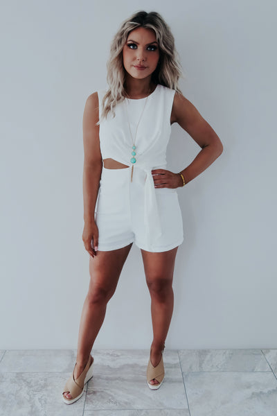 Back For More Romper: White