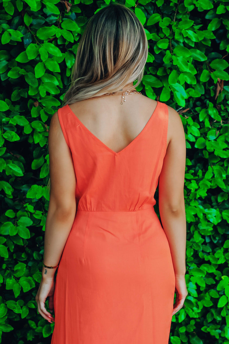 Tunnel Vision Dress: Coral