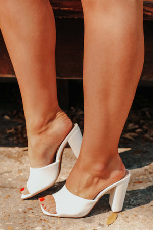 Follow Me Heels: White