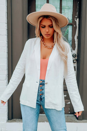 Looking Good Blazer: White