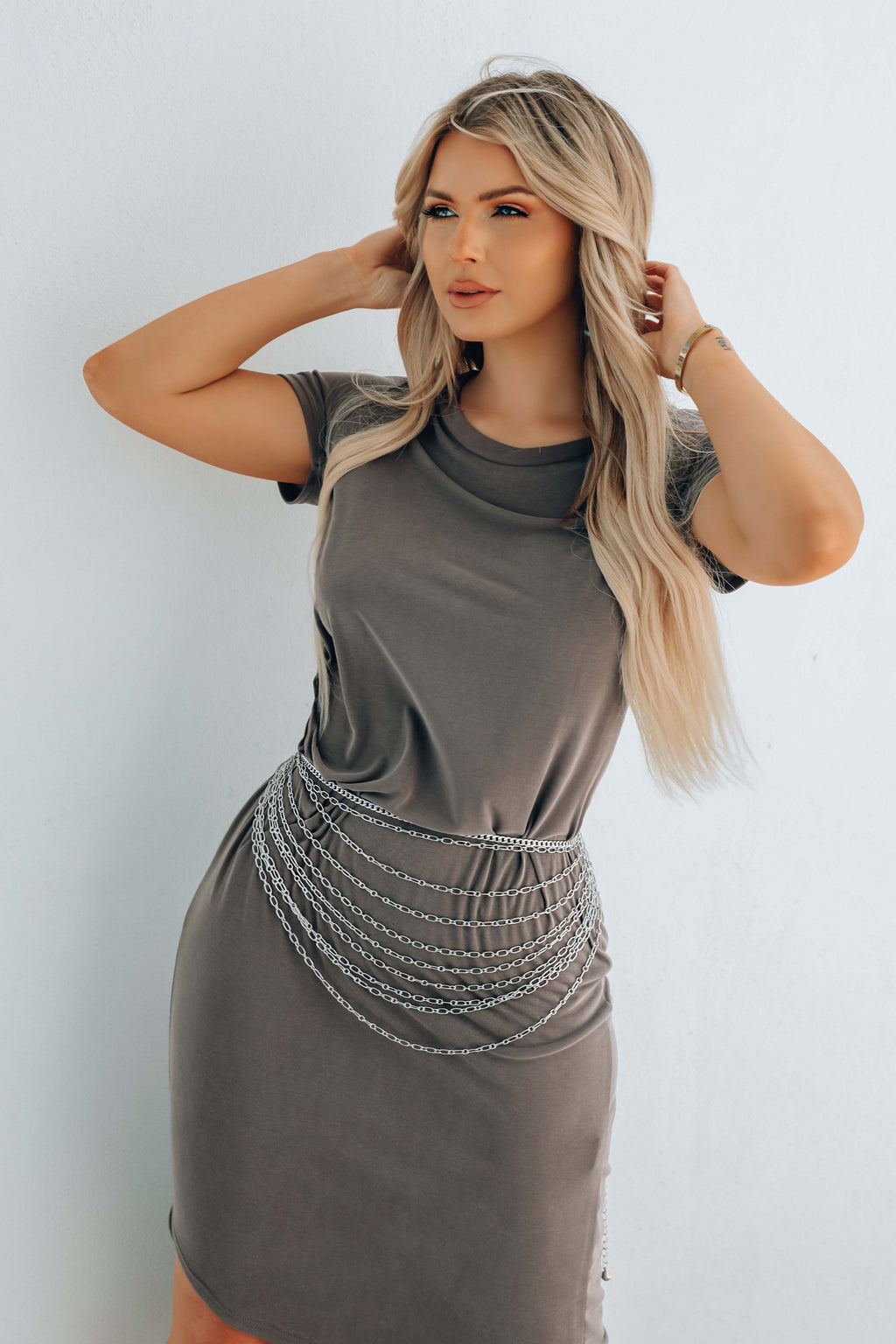 Match My Mood Dress: Gray