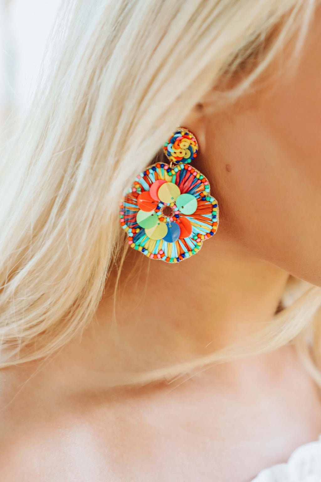 Petals In The Wind Earrings: Multi