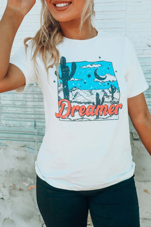 Sky Dreamer Graphic Tee: White/Multi