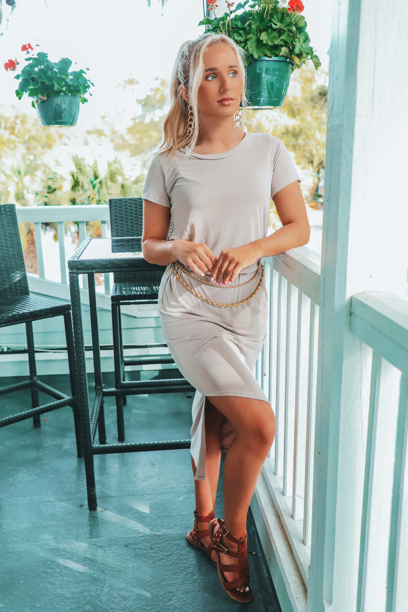 Match My Mood Dress: Dusty Taupe
