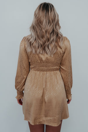 RESTOCK: Countless Compliments Dress: Champagne