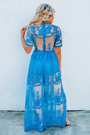 Dreaming In Color Maxi: Dusty Blue