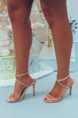 Last Christmas Heels: Rose Gold