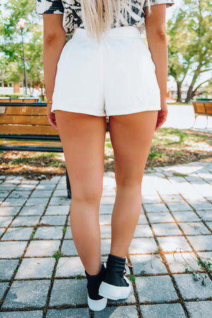 Radiant Glow Shorts: White