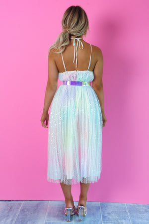 It's A Love Story Dress: Multi