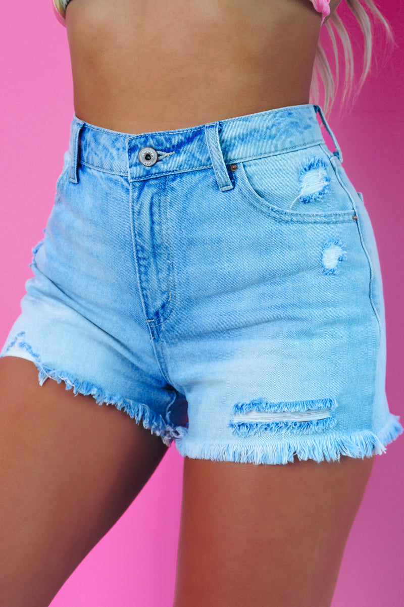 Girl Power Shorts: Denim