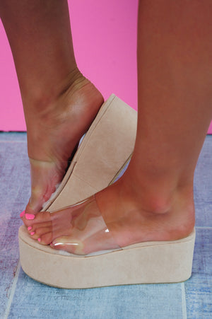 Fairytale Everywhere Wedges: Nude