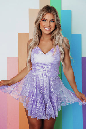 Life Is Magical Romper: Lavender