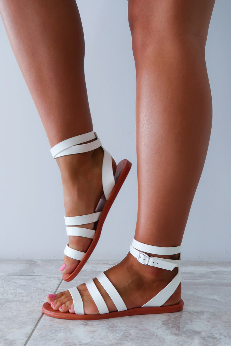 Totally Summer Sandals: White