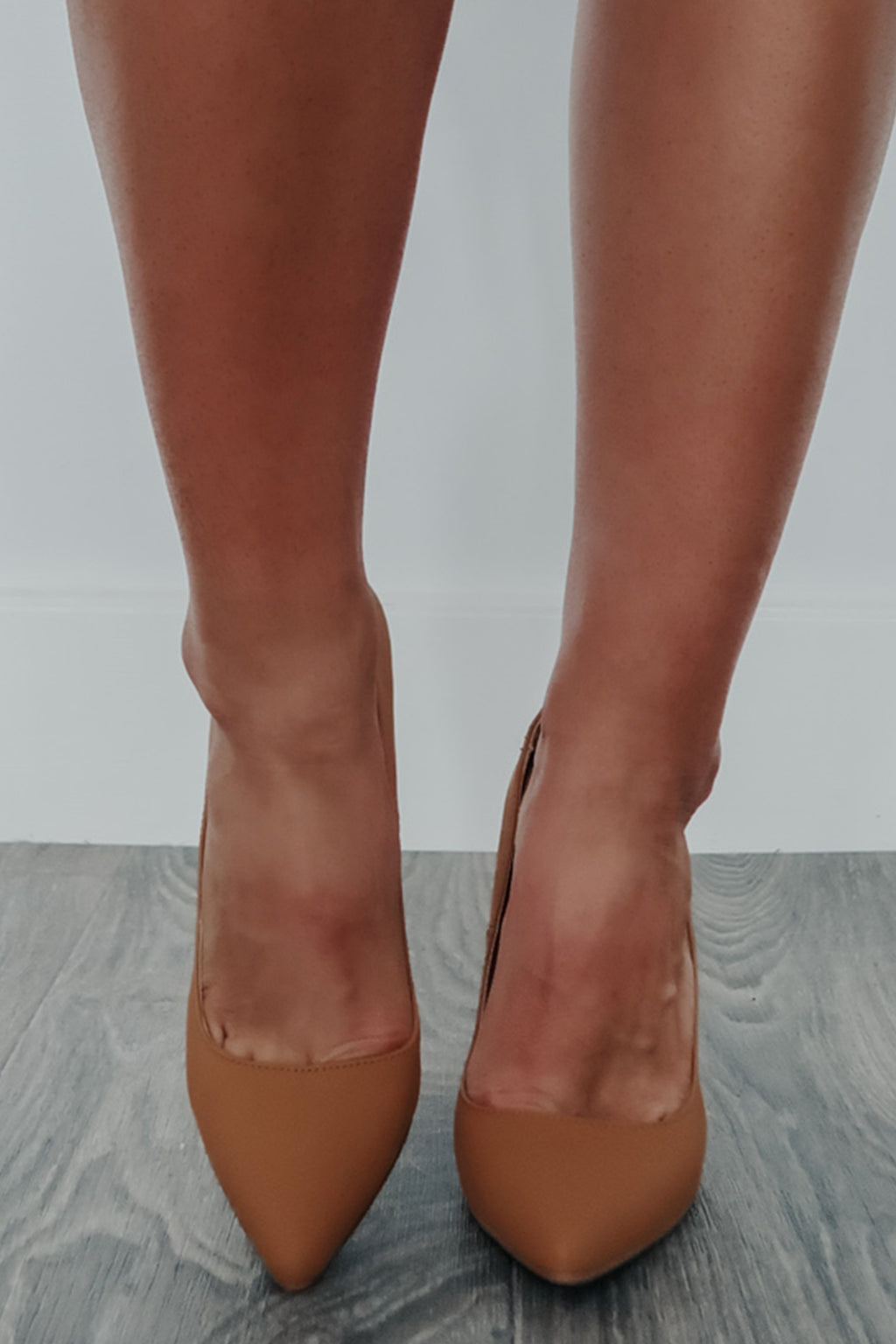 Her Own World Heels: Camel