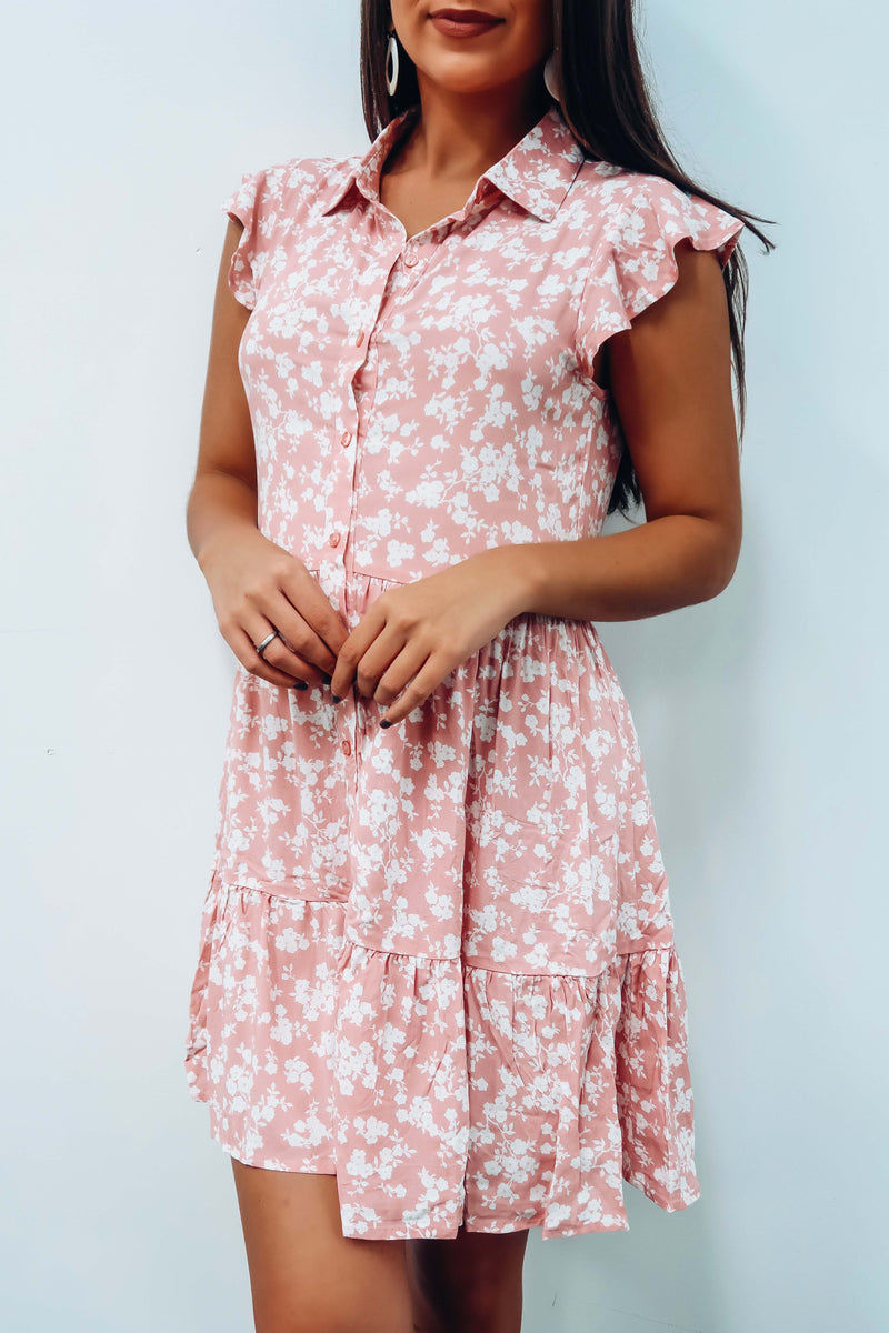 RESTOCK: Time It Well Dress: Dusty Pink/Ivory