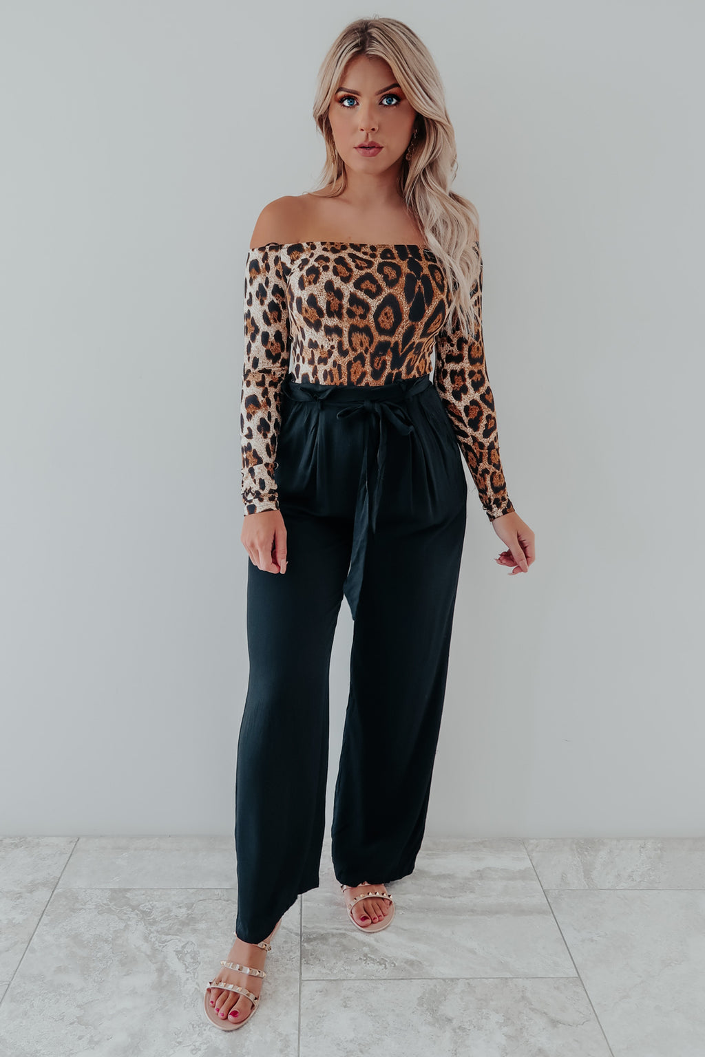 Be On Your Way Jumper: Cheetah/Black