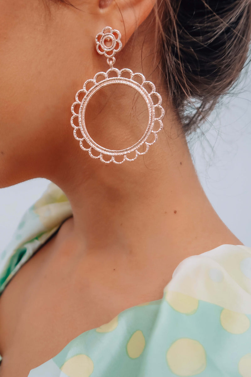 Double Time Earrings: Rose Gold