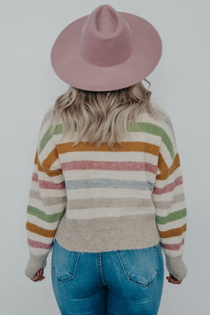 Keep Going Back Sweater: Multi