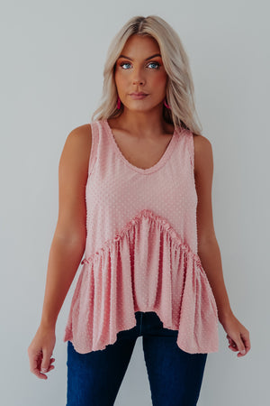 Feel The Love Tank: Pink