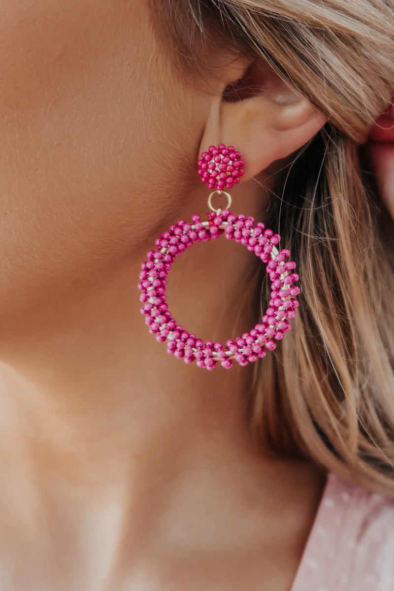 Every Way Earrings: Magenta