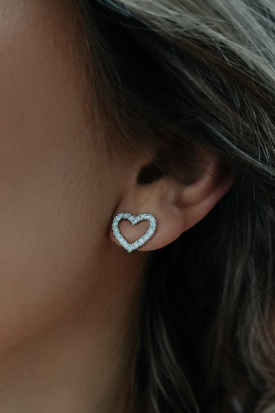 Switch Hearts Earrings: Silver