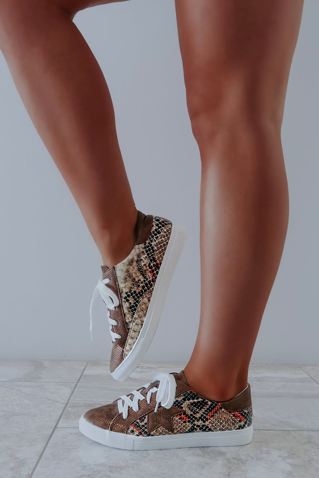 See You At The Rock Show Sneakers: Brown/Multi