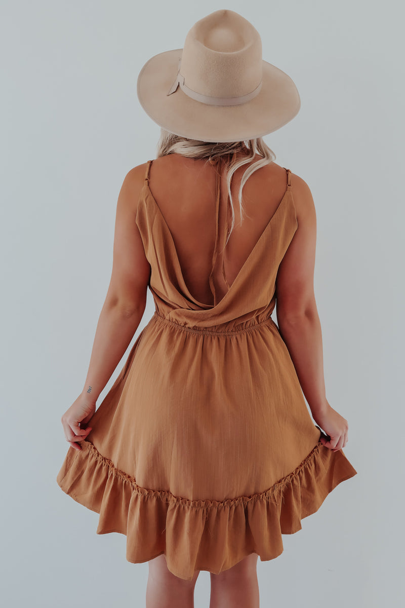 End Of The Line Dress: Butterscotch