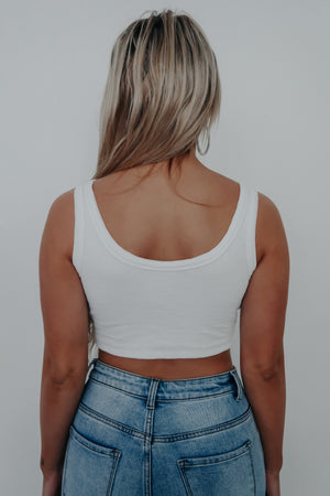 Your Basic Cropped Tank: White