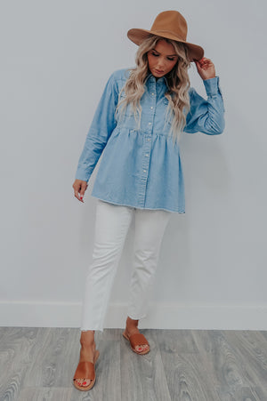 My Only Chance Top: Chambray