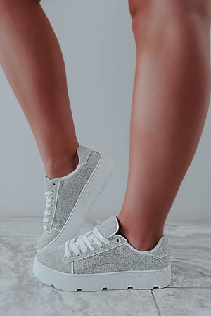 Forever Sparkling Sneakers: White