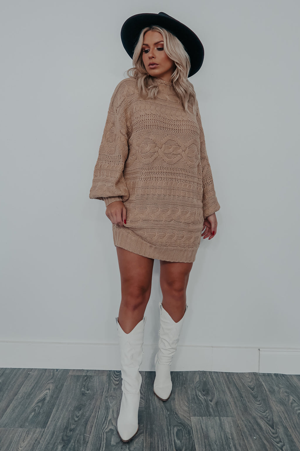 Got The Look Sweater Dress: Mocha