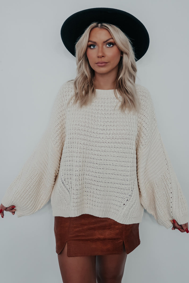 Everything You Need Sweater: Cream