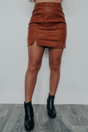 Break A Promise Skirt: Camel