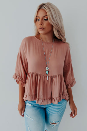 Closer To Me Top: Dusty Cedar