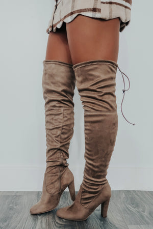 Day By Day Boots: Taupe