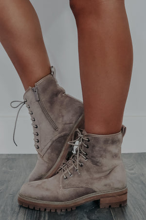 Walk Alone Boots: Taupe