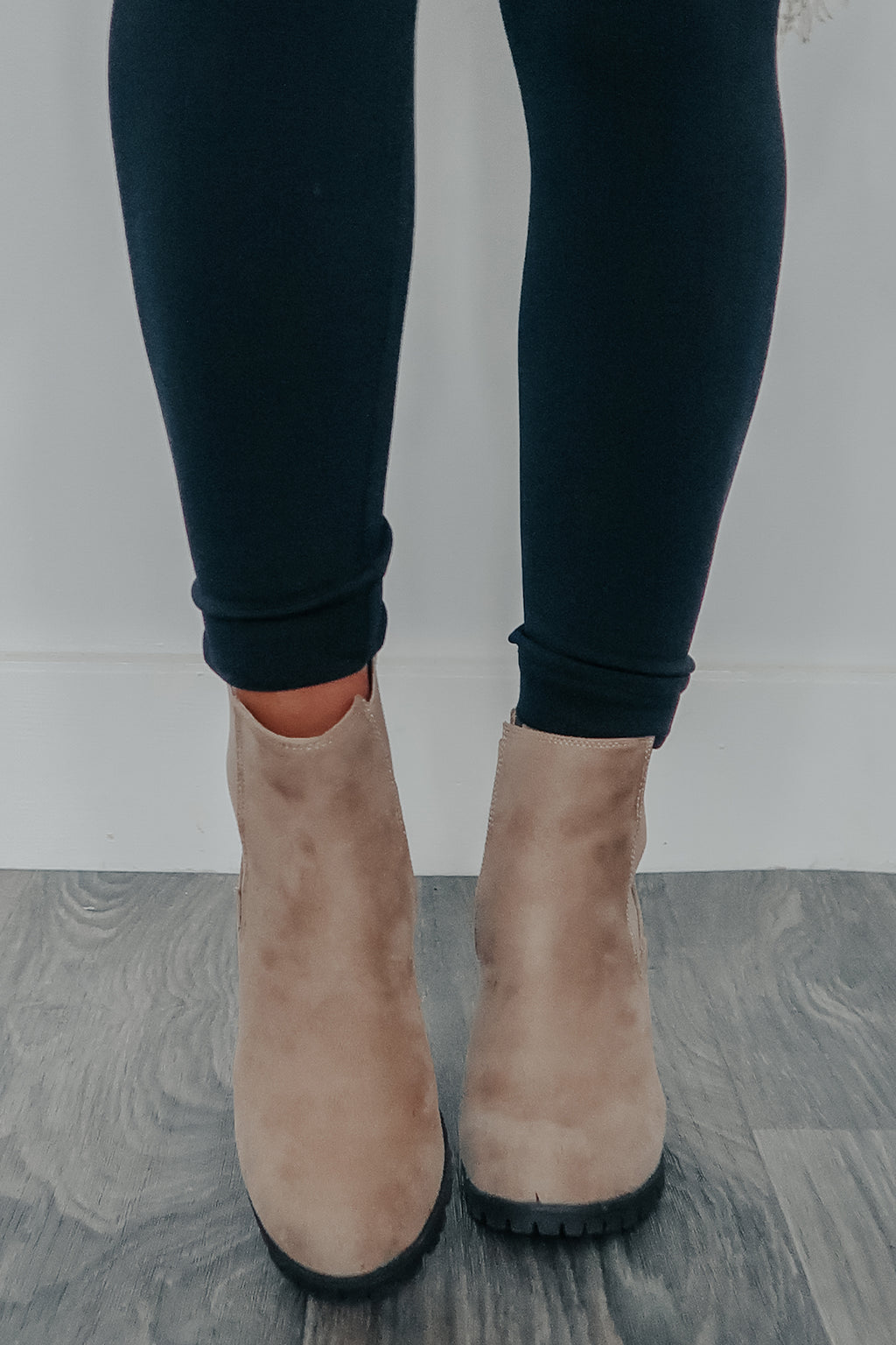 Just For Now Booties: Nude