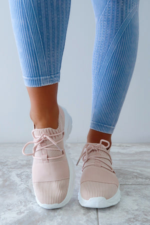 Kick Back Sneakers: Blush