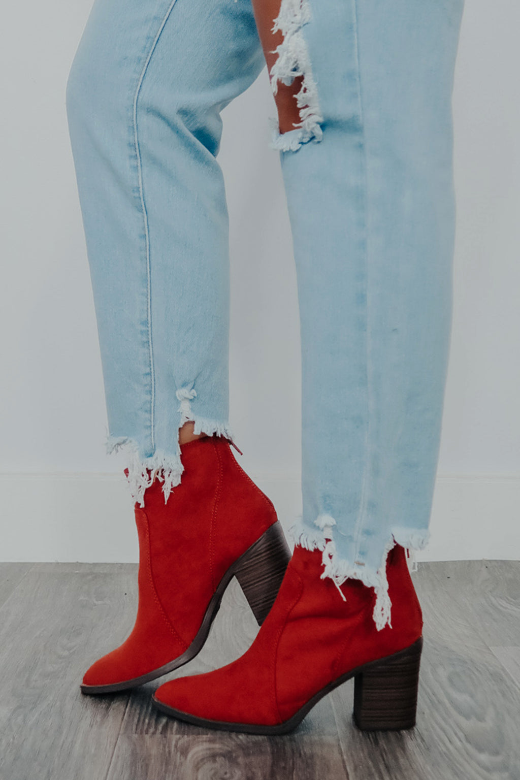 Live My Life Booties: Burnt Orange