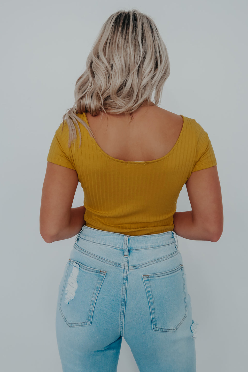 Something Easy Bodysuit: Mustard