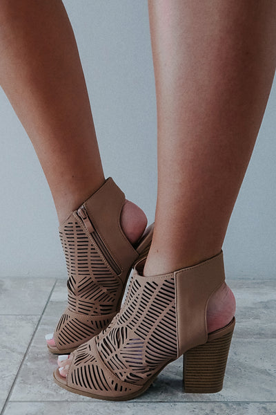 Making My Way Booties: Taupe
