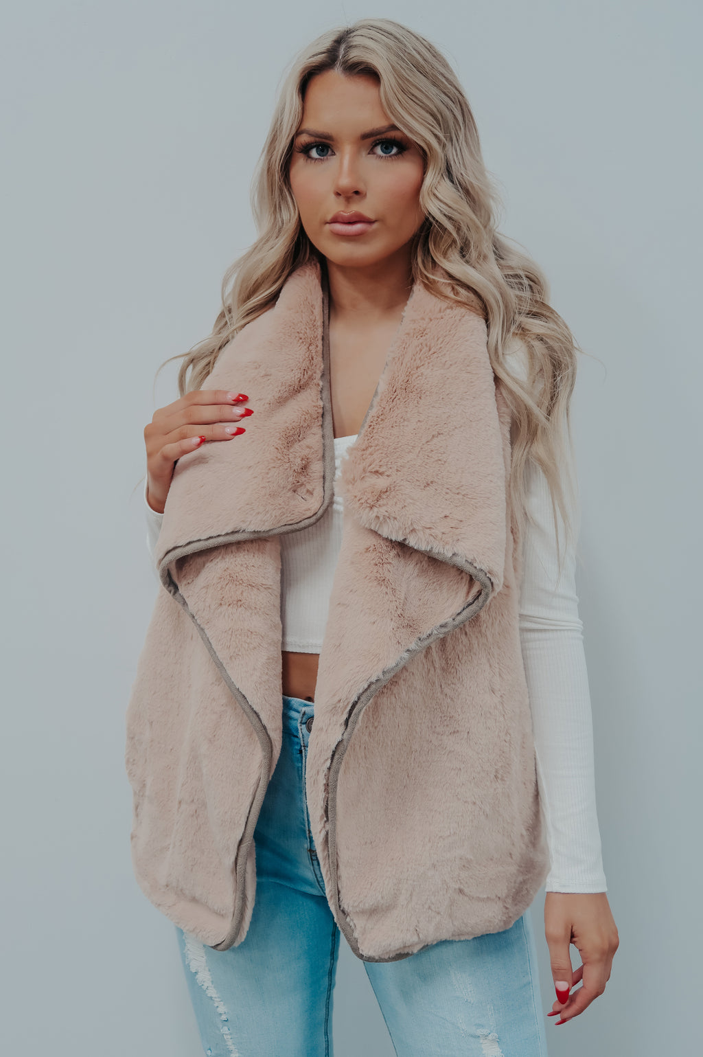 Chilly Days Vest: Soft Pink