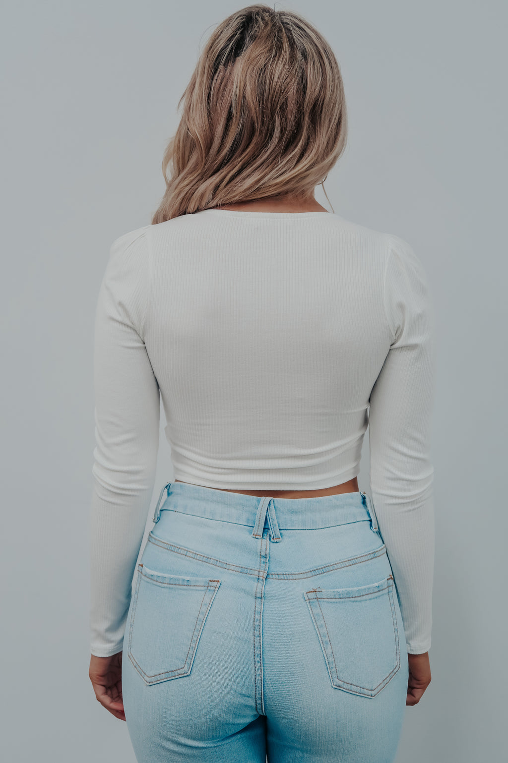 Best Time Crop Top: White