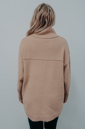 Fall Evenings Sweater: Tan