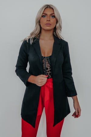 Busy Woman Blazer: Black