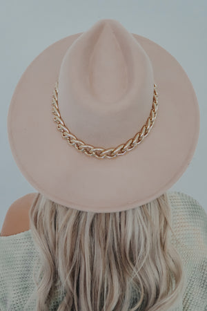 Hidden Beauty Hat: Nude/Gold