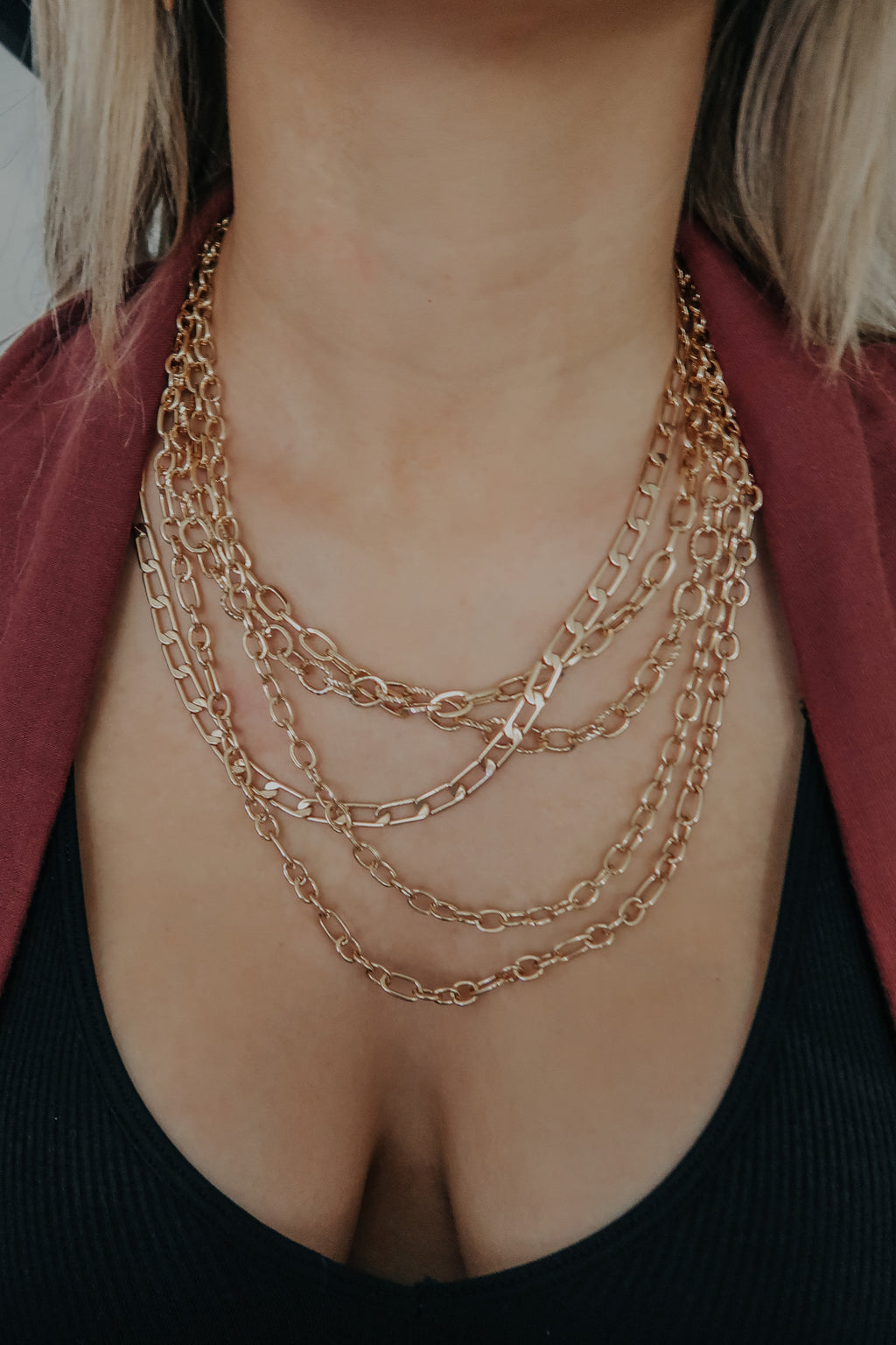 Expect The Best Necklace: Gold