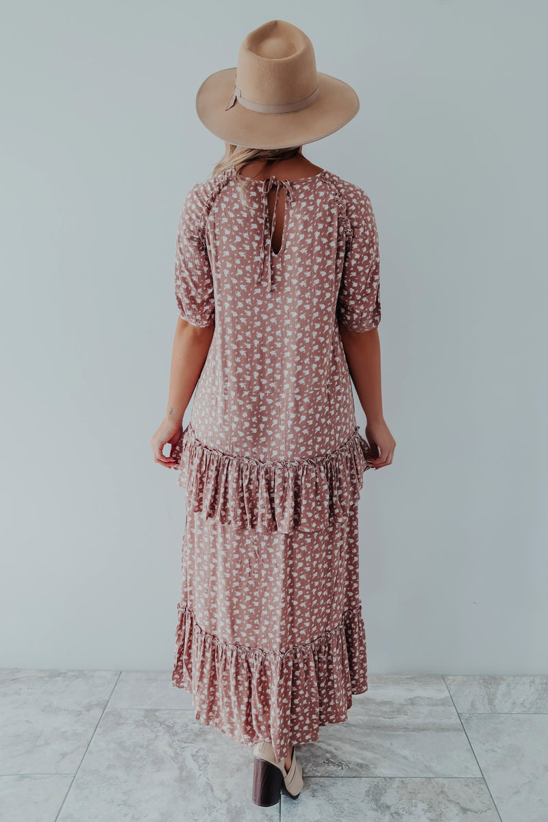 Just Another Reason Midi Dress: Mauve/Ivory