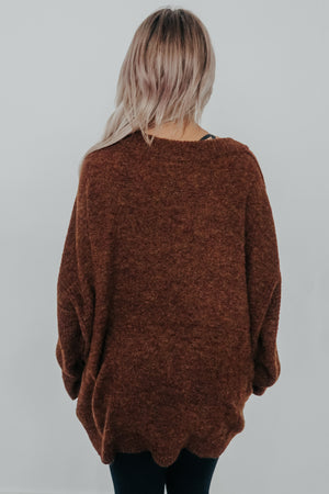 Do Your Things Sweater: Brown